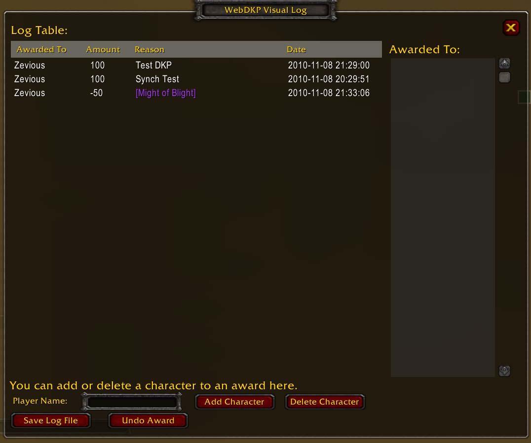 WebDKP - WoW DKP Tracking, In Game Addon, DKP Hosting - Download Addon